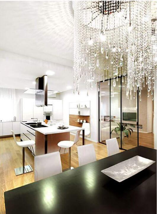 Zona giorno villa Ceresara - Devincenti Multiliving negozio arredamento e design Brescia