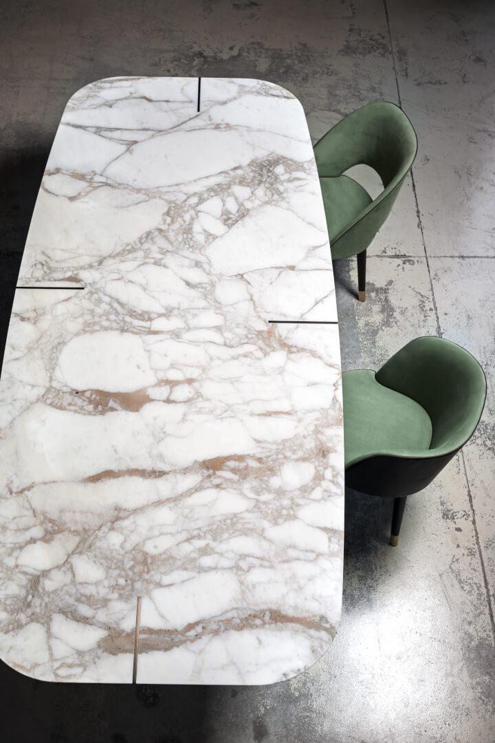 Tavolo Romeo di Baxter profilo - Devincenti negozio arredamento e design Brescia