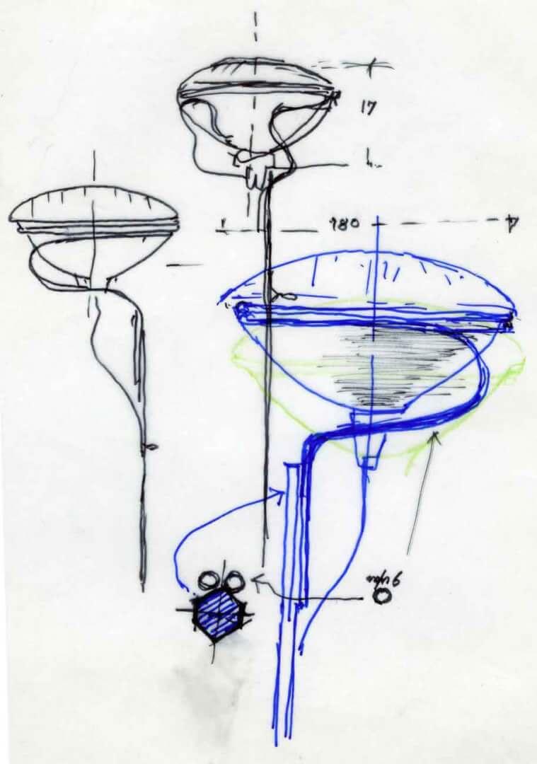 Dettaglio disegno lampada - Devincenti negozio arredamento Brescia