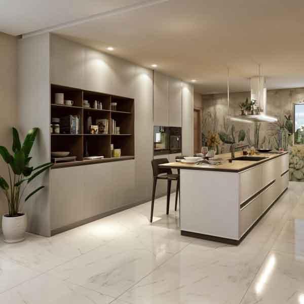 Panoramica cucina Scavolini Ki - Devincenti negozio arredamento Brescia